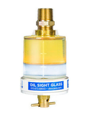 Des-Case oil sight glass
